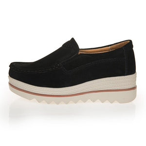 Suede Genuine Leather Platform Shoes