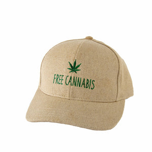 "HEMPY'S ""Free Cannabis"" Baseball Cap - Natural"