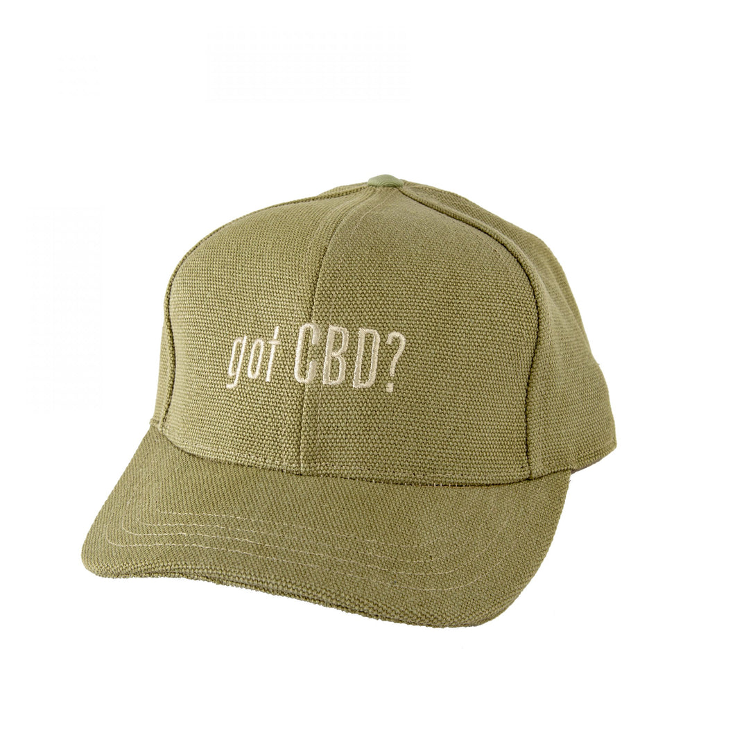 "Hemp ""Got CBD?"" Baseball Cap Green"