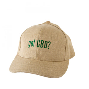 "Hempy's ""Got CBD?"" Baseball Cap Natural"