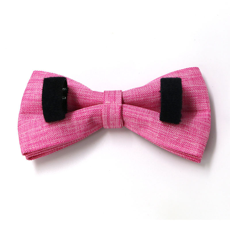 dog bow tie pink