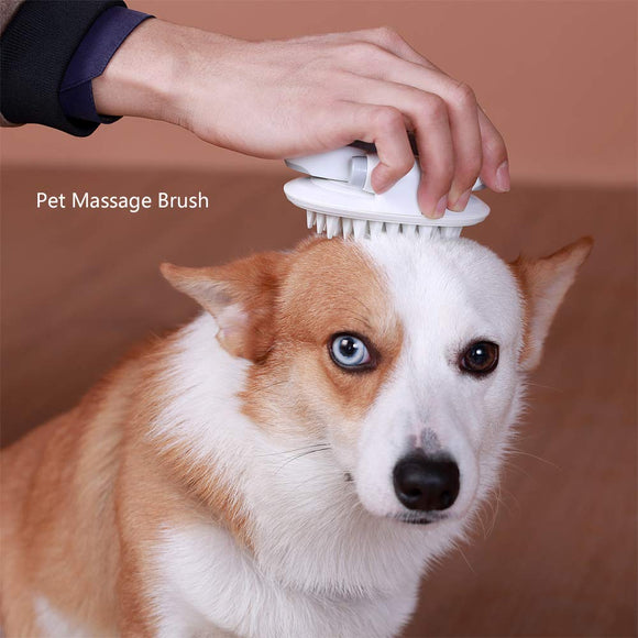 PETDURO Cat Bath Massage Brush Deshedding Grooming Tool for Dog