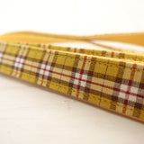 Modern Dog Leash 4ft Cotton Fabric for Large Small Dogs Puppies - Yellow Brown Plaid
