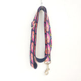 Stylish Dog Leash 4ft Cotton Fabric for Large Small Dogs Puppies - Deep Graffiti