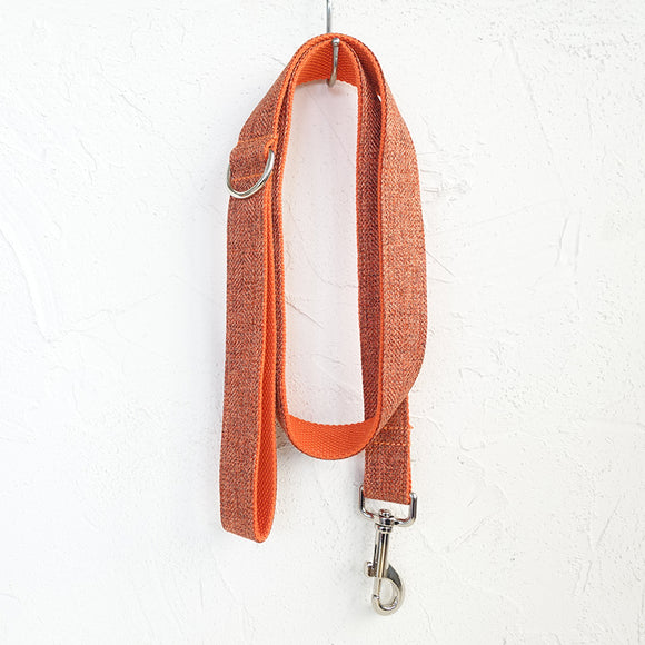 Modern Dog Leash 4ft Cotton Fabric for Large Small Dogs Puppies - Orange