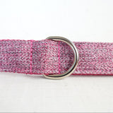Modern Dog Leash 4ft Cotton Fabric for Large Small Dogs Puppies - Purple