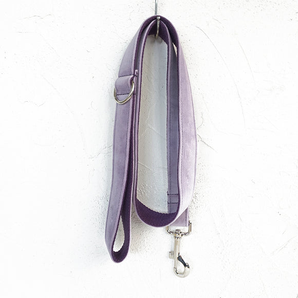 Modern Dog Leash 4ft Thick Lint Fabric for Large Small Dogs Puppies - Light Purple