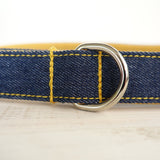 Stylish Dog Leash 4ft Cotton Fabric for Small Medium Dogs Puppies - Yellow Jean