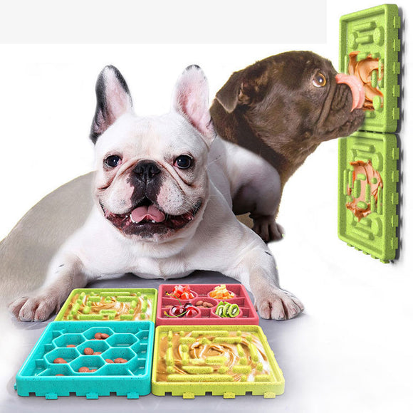 PETDURO Dog Lick Mat for Anxiety Slow Feeder Dog Bowls Bundle Assembled