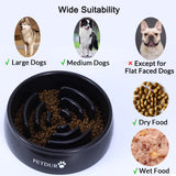 PETDURO Slow Feeder Dog Bowls Large Breed Heavy Duty Non-Slip Maze Puzzle Feeder for Fast Eater Dogs