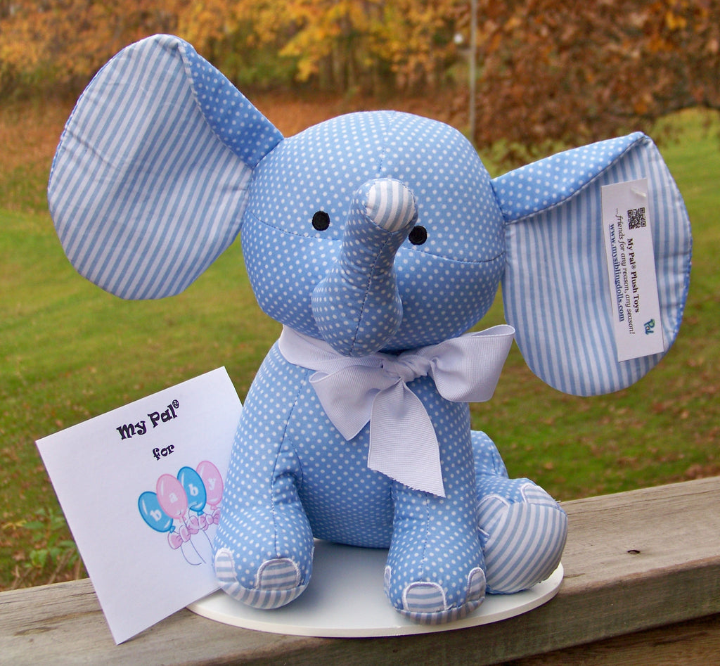 plush toy - My Pal for BABY - blue elephant