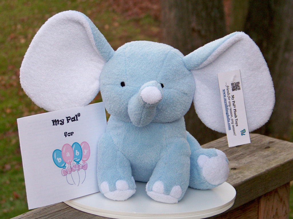 plush toy - My Pal for BABY - small blue elephant