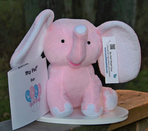 plush toy - My Pal for BABY - small pink elephant