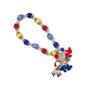z- autism awareness charm bracelet