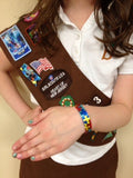 z- autism awareness puzzle ribbon bracelet