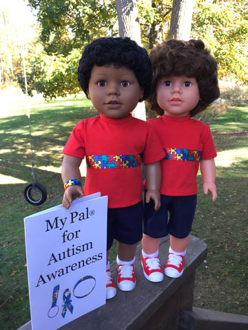 18 inch boy doll - My Pal for Autism Awareness - 2 choices