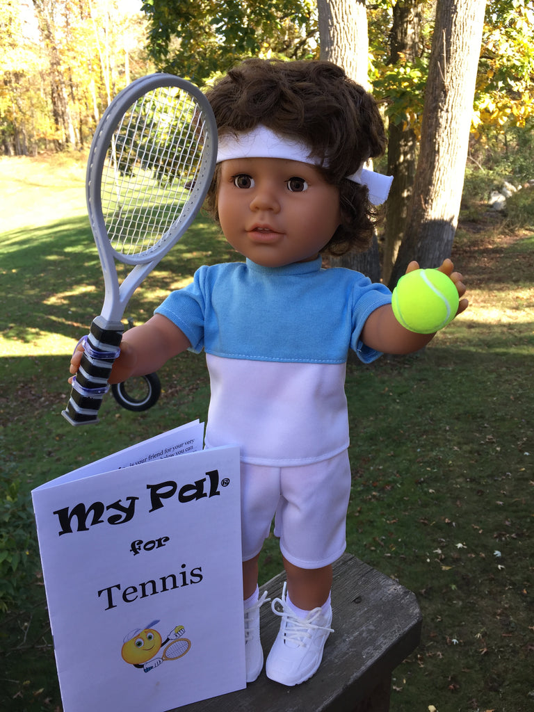 18 inch boy doll tennis