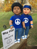 18 inch boy doll peace