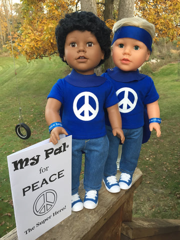 18 inch boy doll - My Pal for Peace, the Super Hero! (with cape)