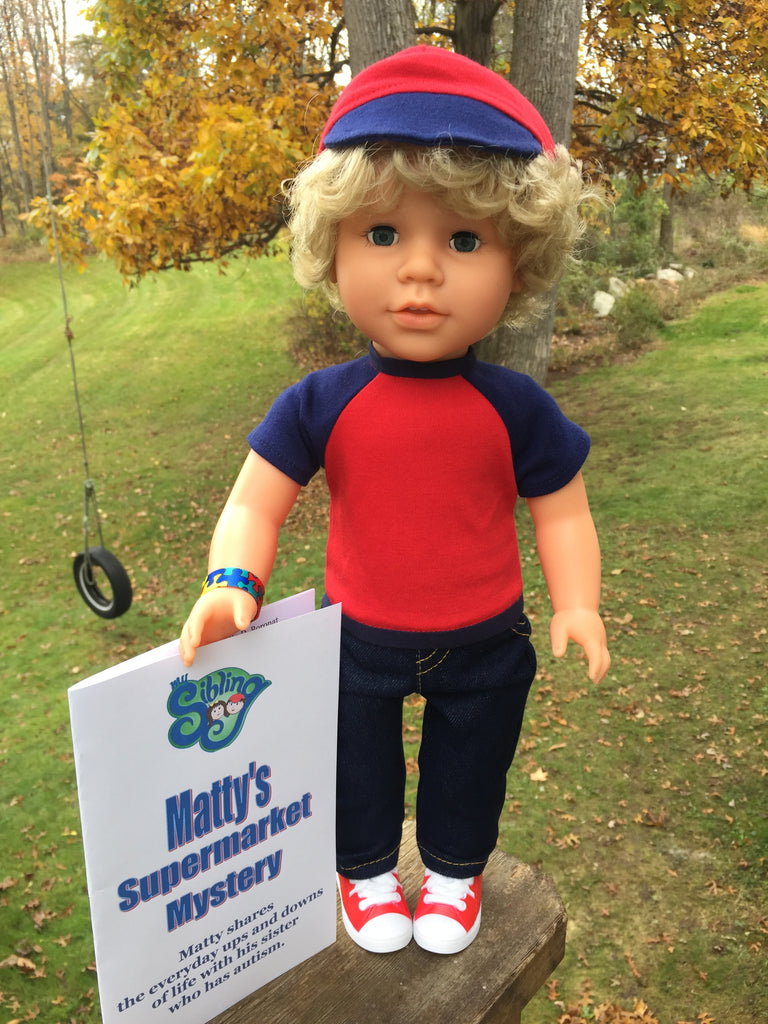 18 inch boy doll blonde hair blue eyes