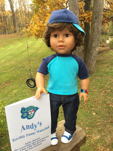 18 inch boy doll - My Sibling - Andy