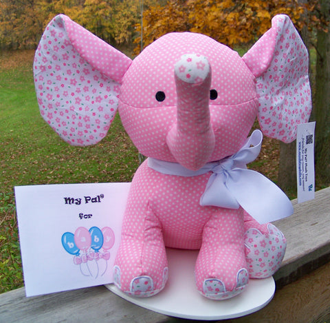 plush toy - My Pal for BABY - pink elephant