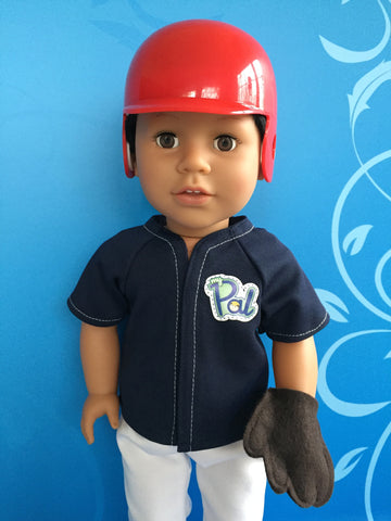 boy doll accessories - baseball helmet