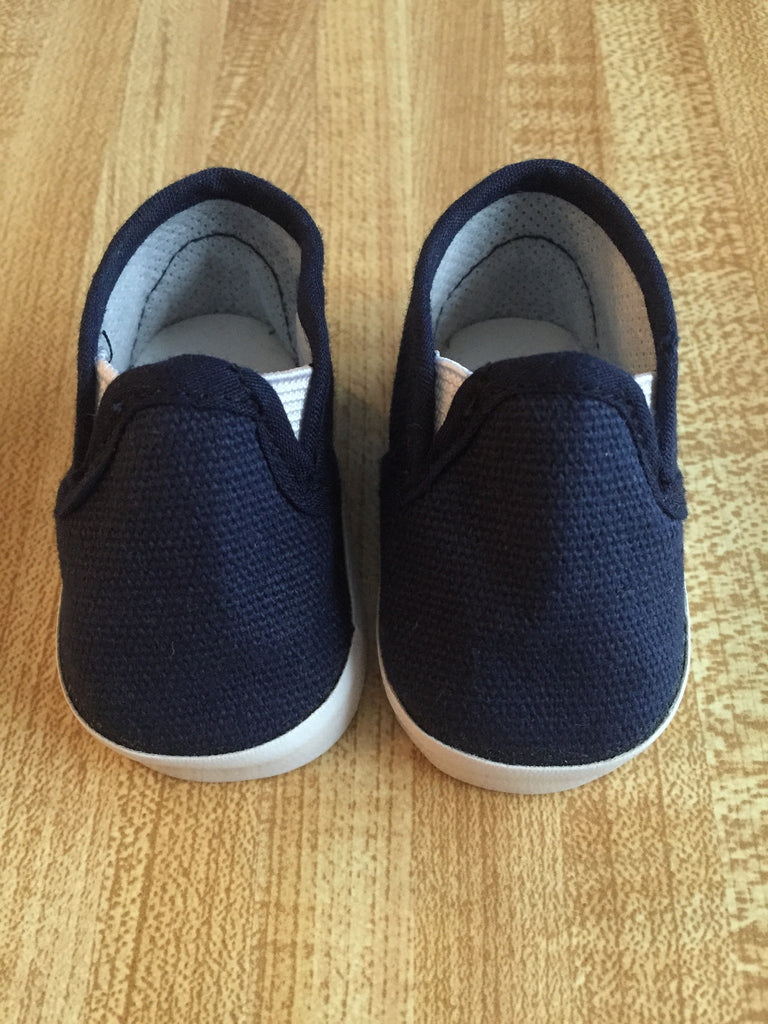 boy doll footwear - slip-on sneakers - navy blue