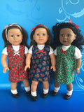 girl doll clothes - Christmas outfit