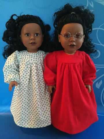 girl doll clothes - nightgown and slippers