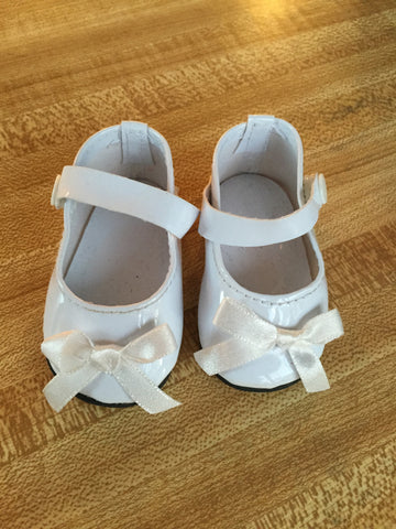 girl doll footwear - mary janes with bow