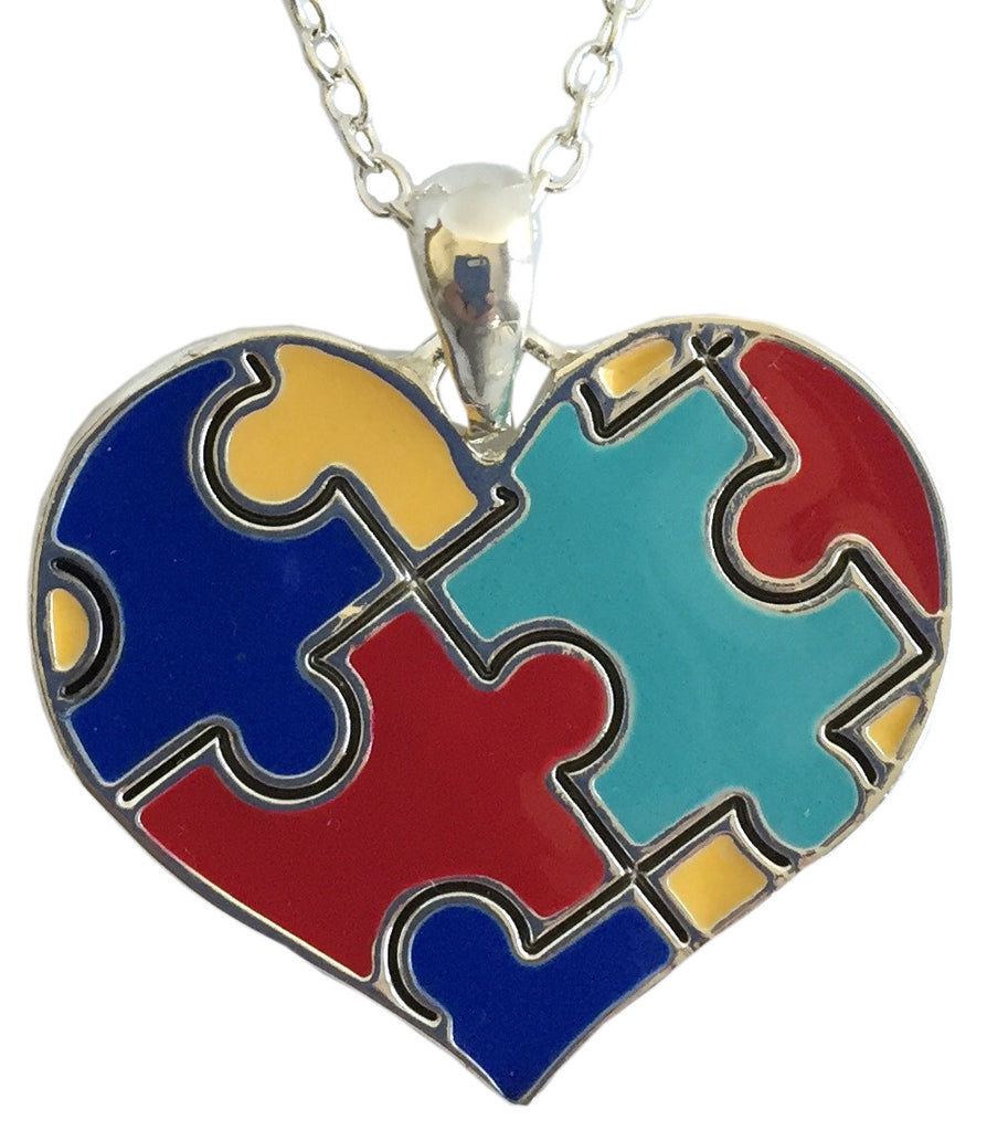 z- autism awareness necklace - heart shape