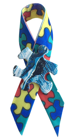 z - autism awareness puzzle ribbon pin