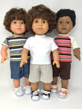 18 inch boy doll clothes diversity