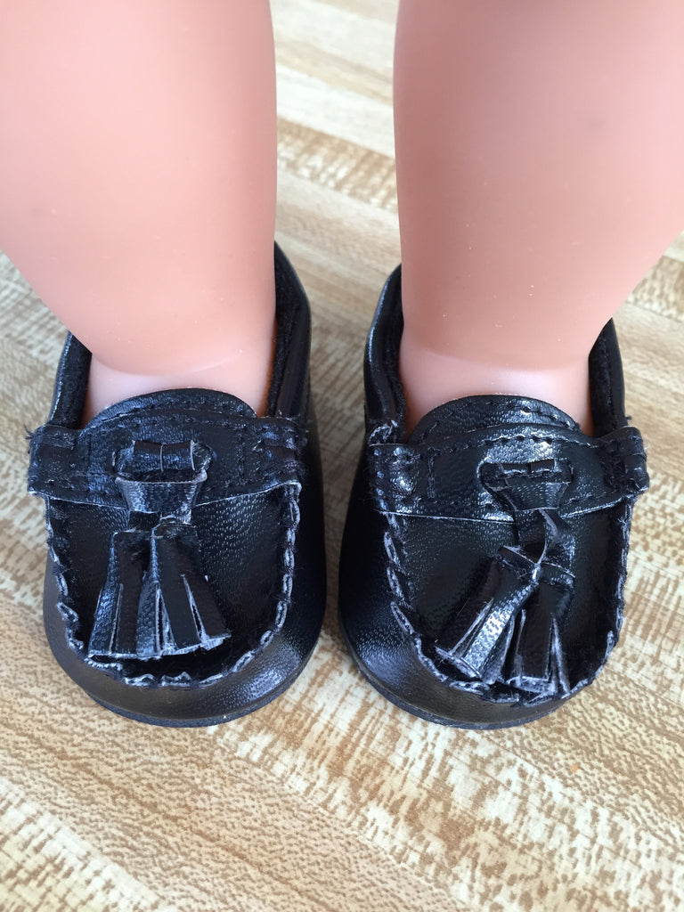 boy doll footwear - loafers with tassel