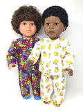 18 inch boy doll clothes - pjs - chicks and puzzle prints - 2 choices