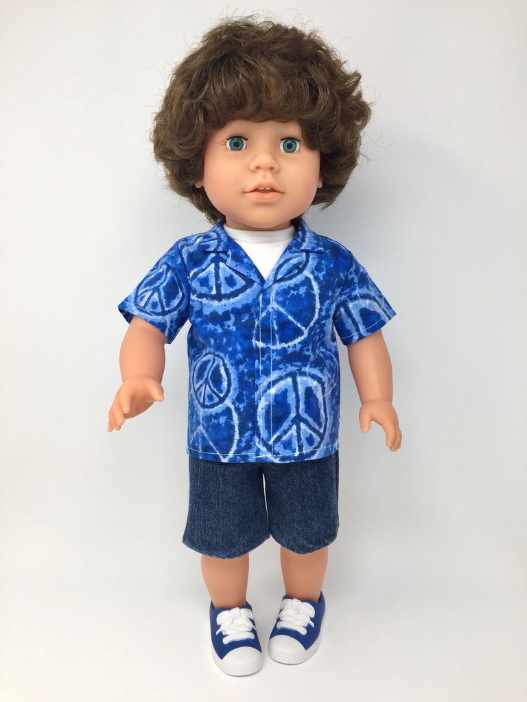 boy doll clothes peace signs