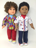 18 inch boy doll clothes - tailored shirt outfits - mix and match