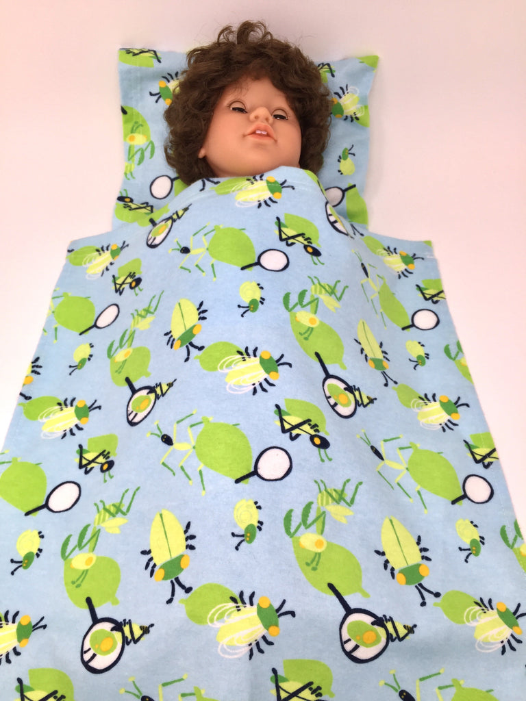 Picture of: 18 Inch Boy Doll Bed Sheet And Pillow Set 3 Choices My Sibling And My Pal Dolls