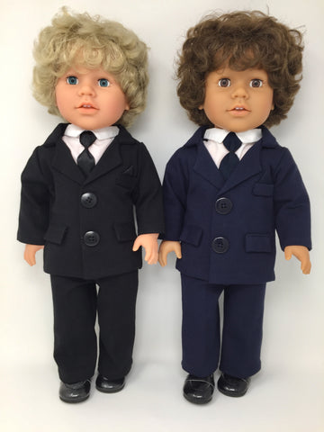 18 inch boy doll clothes - dress up suit - 2 choices - dolls sold separately