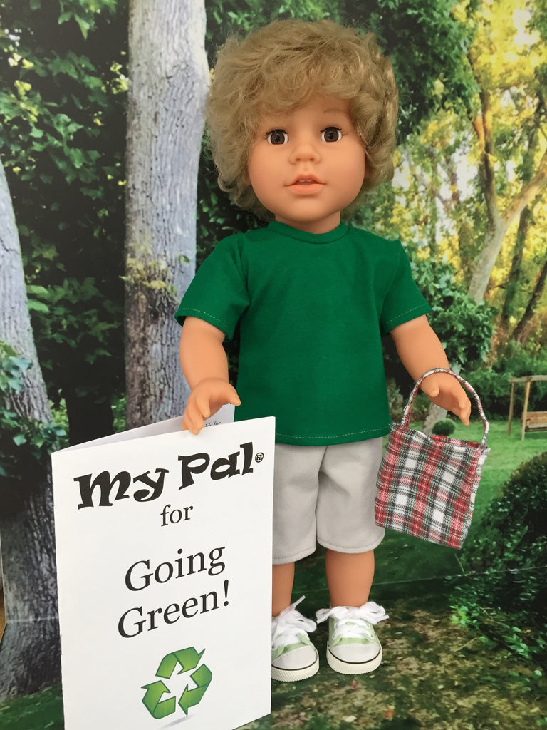 18 inch boy doll green toys