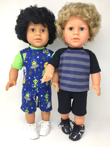 18 inch boy doll clothes - shorts outfits - 2 choices