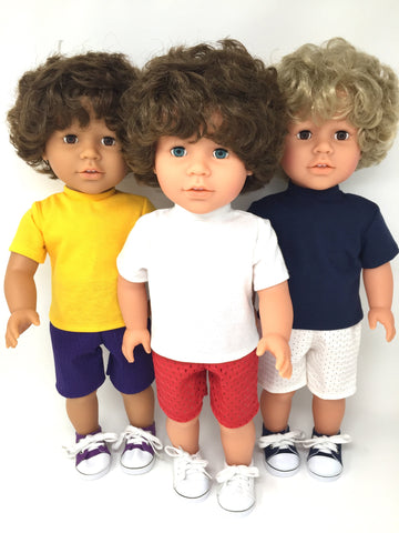18 inch boy doll clothes - shorts and t shirts - separates