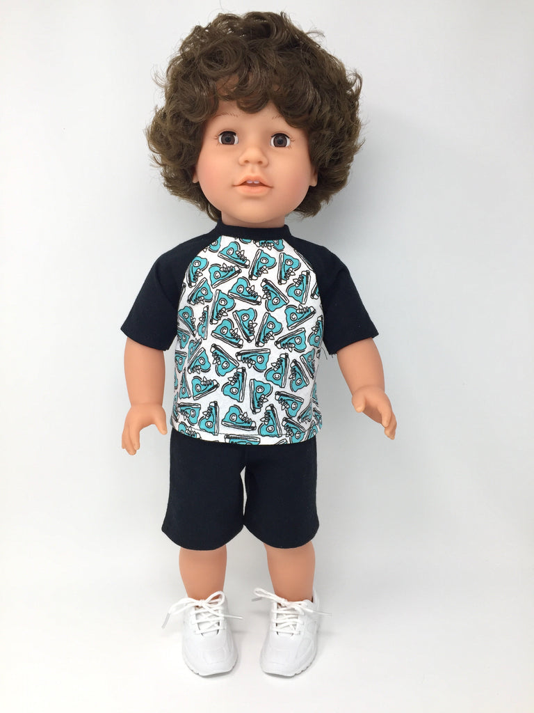 18 inch boy doll clothes sports