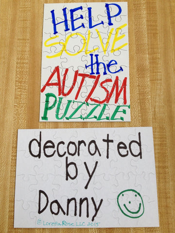 z - autism awareness jigsaw puzzle