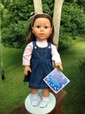 "18"" girl doll - Down Syndrome education"
