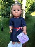 18 inch girl doll - My Sibling - Victoria