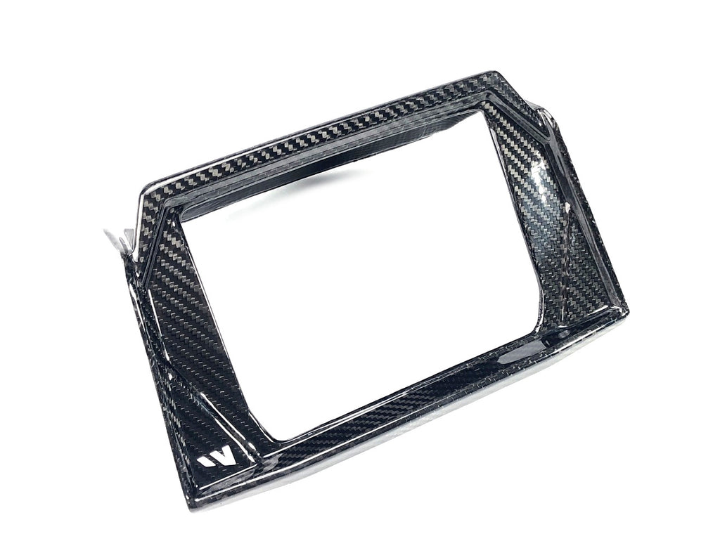 POLARIS RZR 19+ RZR 1K XP / TURBO / S - RIDE COMMAND CARBON FIBER SCREEN SURROUND ( 7 Button )