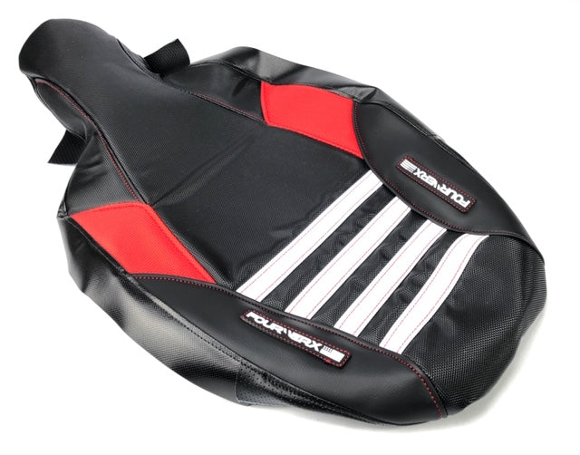 HONDA 08+ TRX300-X 'WAVE' SEAT COVER - BLACK / WHITE / RED