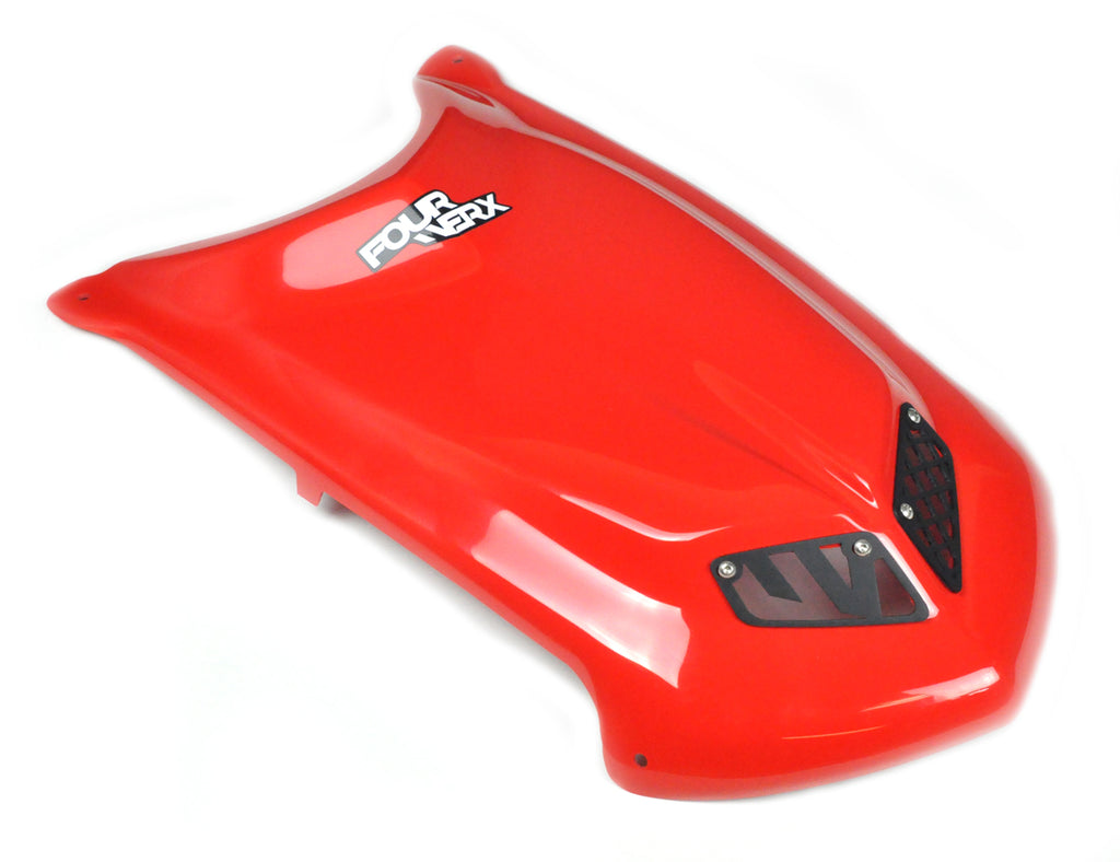 TRX450R 'A58' GLOSS RED PLASTIC HOOD
